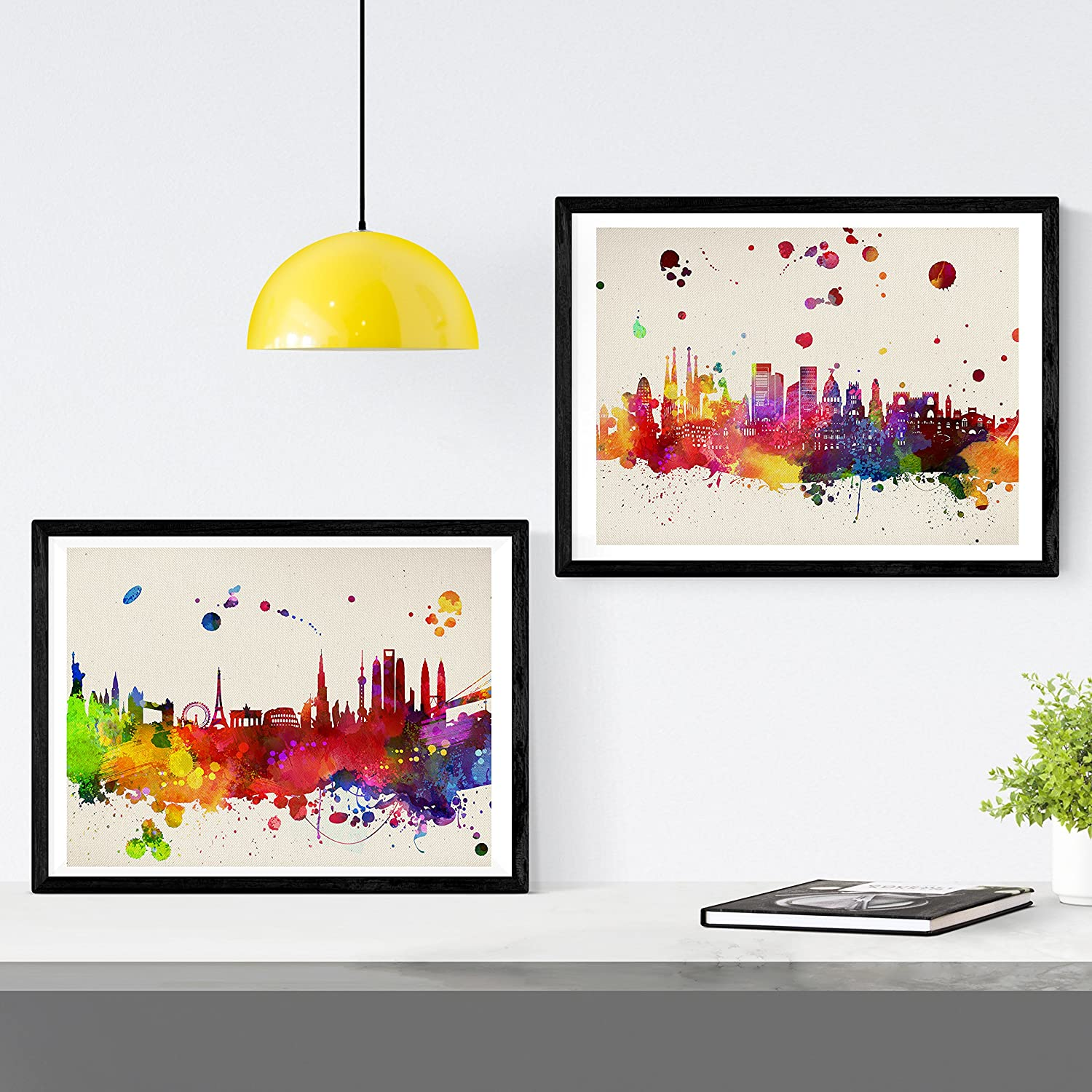 Nacnic Prints Monuments of Spain - Set of 1 - Unframed 11x17 inch Size - 250g Paper - Beautiful Poster Painting for Home Office Living Room