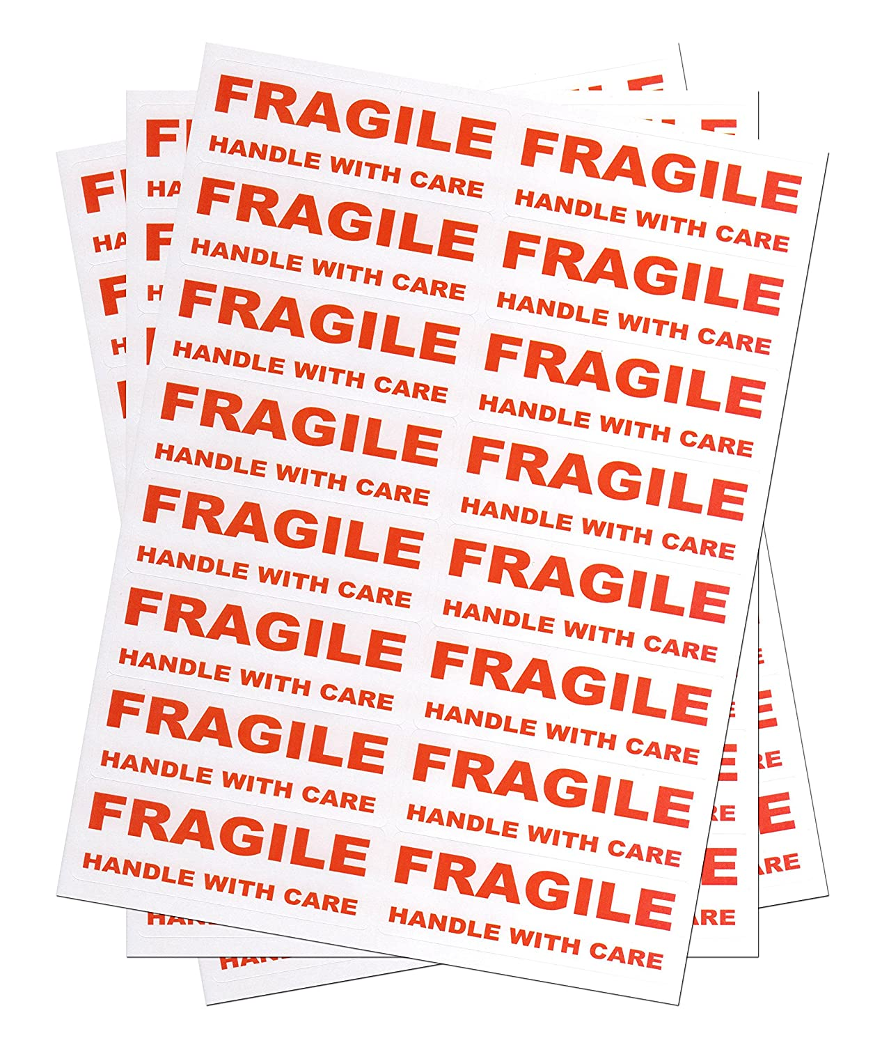 800 FRAGILE - Handle with care Labels Large Stickers Mediasave