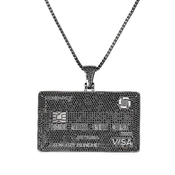 Amazon.com: TOPGRILLZ - Collar con colgante de tarjeta V ...