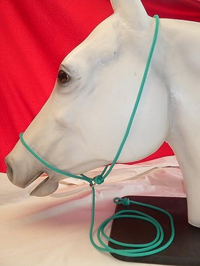 Big Sky Tack and Snacks Horse Pocket Halter Quick Catch Halter 1//4 Polyester Rope