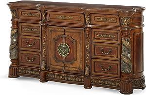 Michael Amini Villa Valencia Dresser, Classic Chestnut