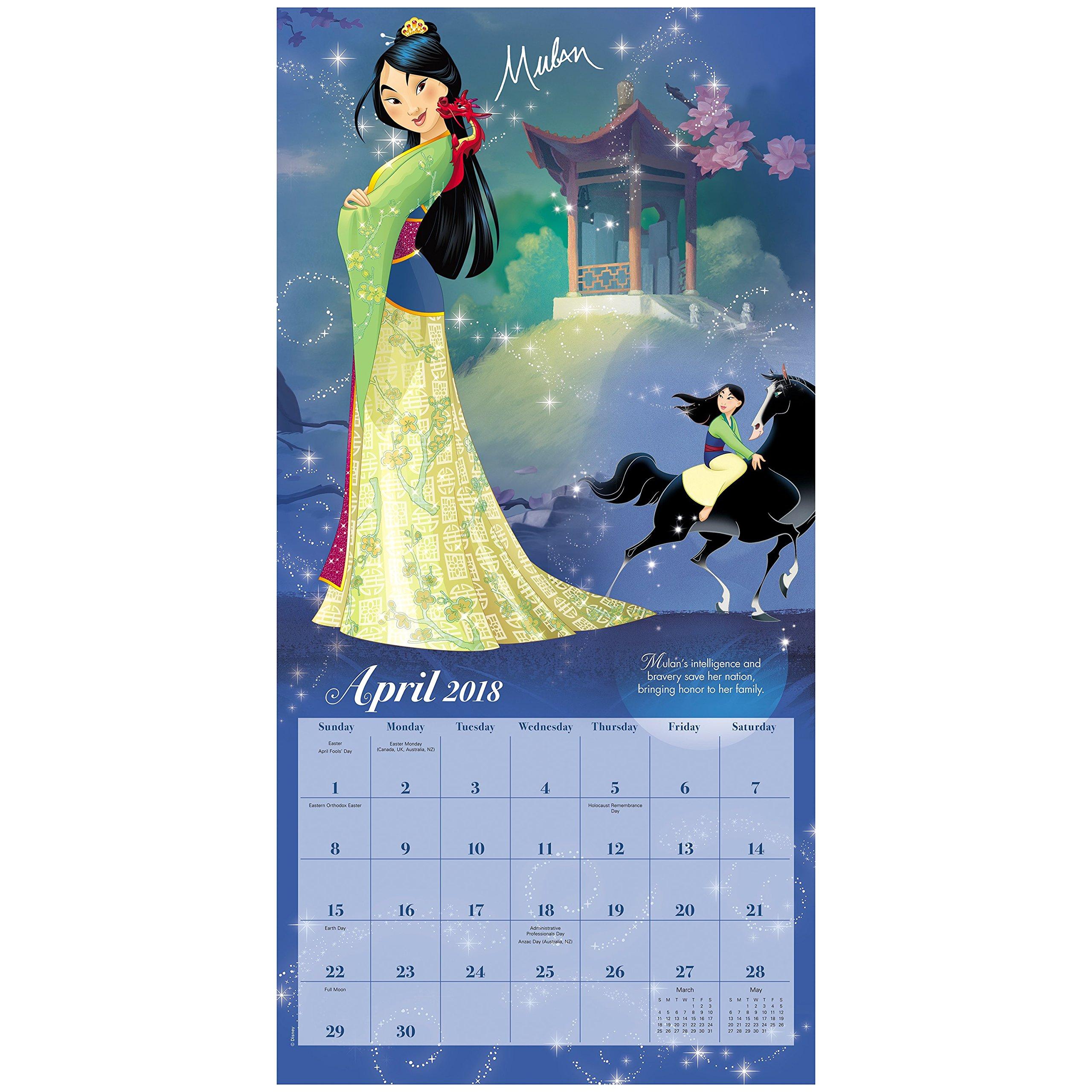 2018 Disney Princess Wall Calendar Day Dream Day Dream