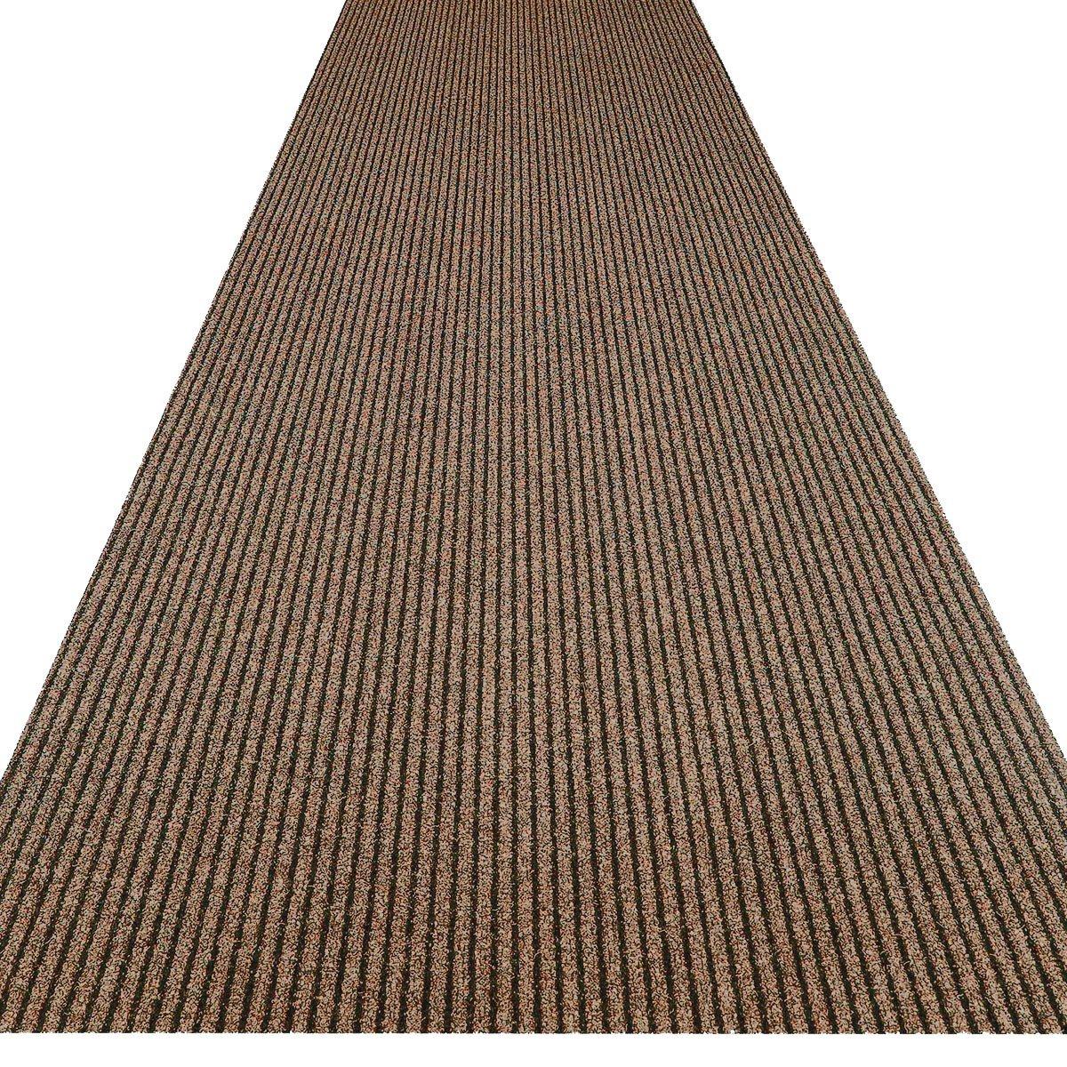 Havatex Küchenteppich Küchenmatte   Teppichläufer Event - schadstoffgeprüft   pflegeleicht strapazierfähig schmutzabweisend   Küche Flur Büro Eingang Diele, Farbe Braun, Größe 100 x 550 cm