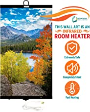 Invroheat - Decorative Wall Hanging Infrared Space Heater/Portable Heater 430W Perfect for Home or Office - Mountain Lake Des