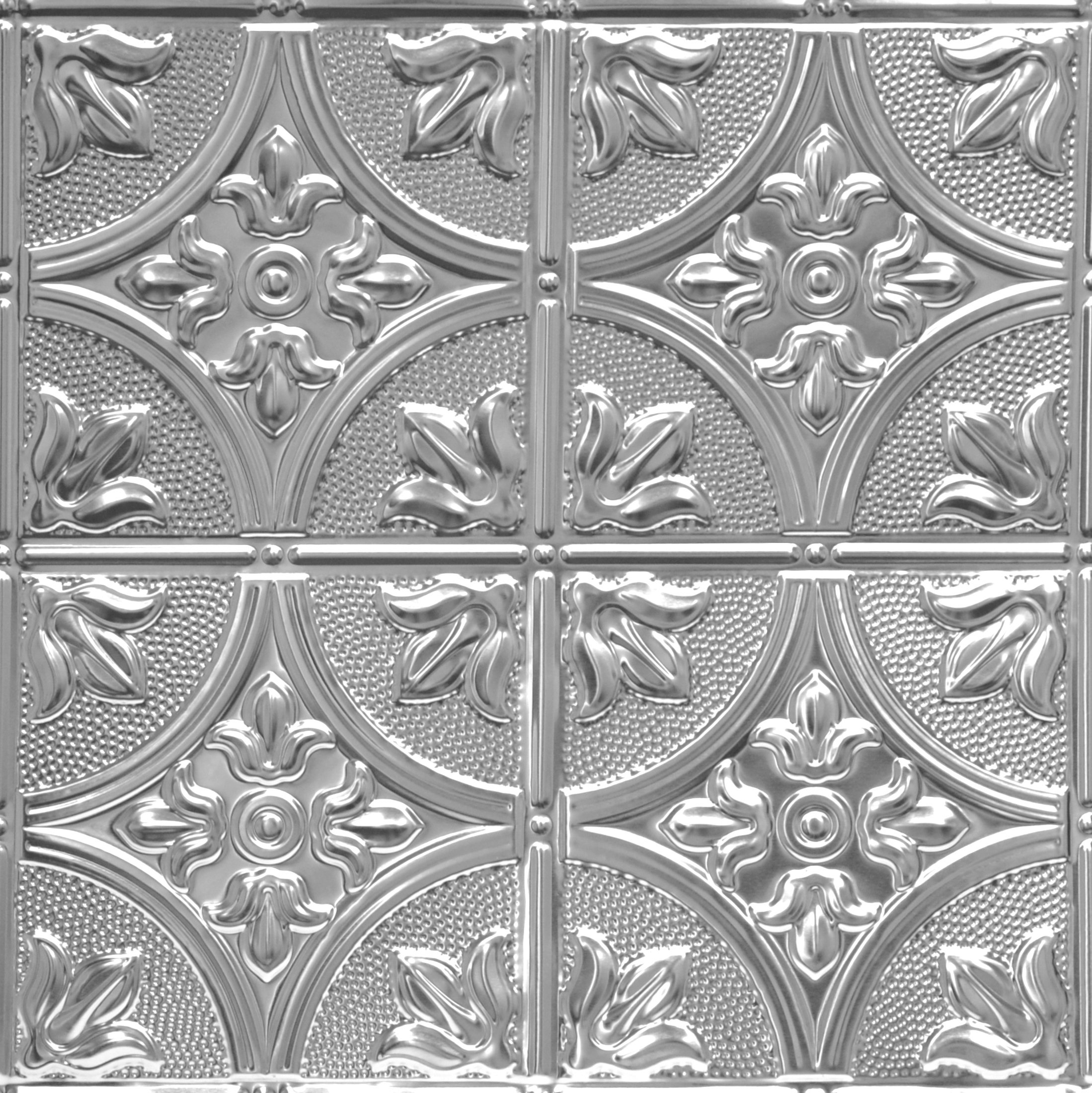 Shanko LS309DA Pattern 309 Authentic Pressed Metal Wall and Ceiling Tiles, 20 sq. ft., Lacquered Steel