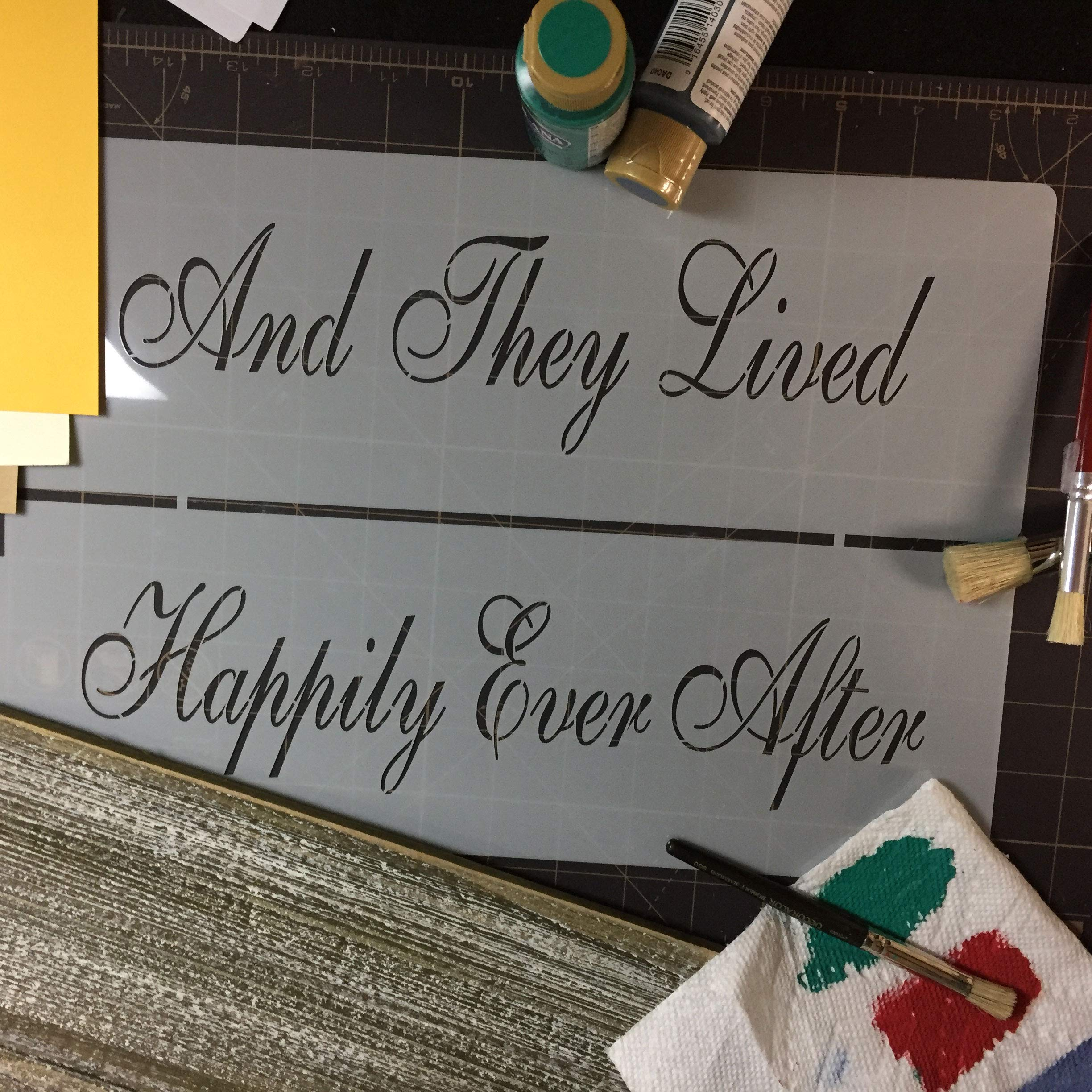 Happily Ever After Cake Stencil by Designer Stencils by Designer Stencils