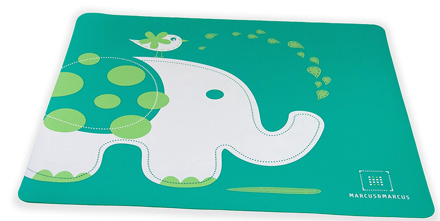 Marcus & Marcus OLLIE THE ELEPHANT Silicone Placemat - Green UV Corp 11052