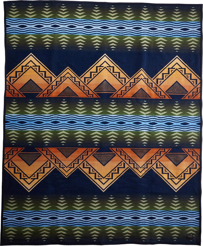 American Treasures Blanket by Pendleton ツイン ブルー ZE494-53268 B01DQ5JPY2 ミッドナイト(Midnight)