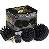 BBQ Grill Cleaning Ultra Stiff Drill Powered Cleaning Brushes 4 Piece Kit Replaces Wire Brushes for Rust Removal, Loose Paint