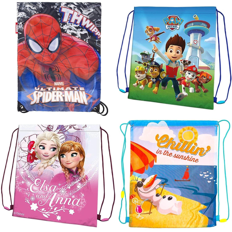 Paw Patrol Mochila de deportes para ni/ños y ni/ñas Spiderman con dise/ño de Frozen