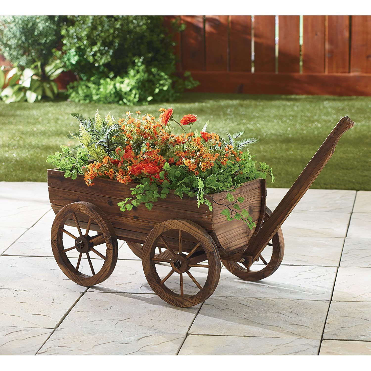 Fine Green Garden Wagon Motif - Brown Nature Garden ...