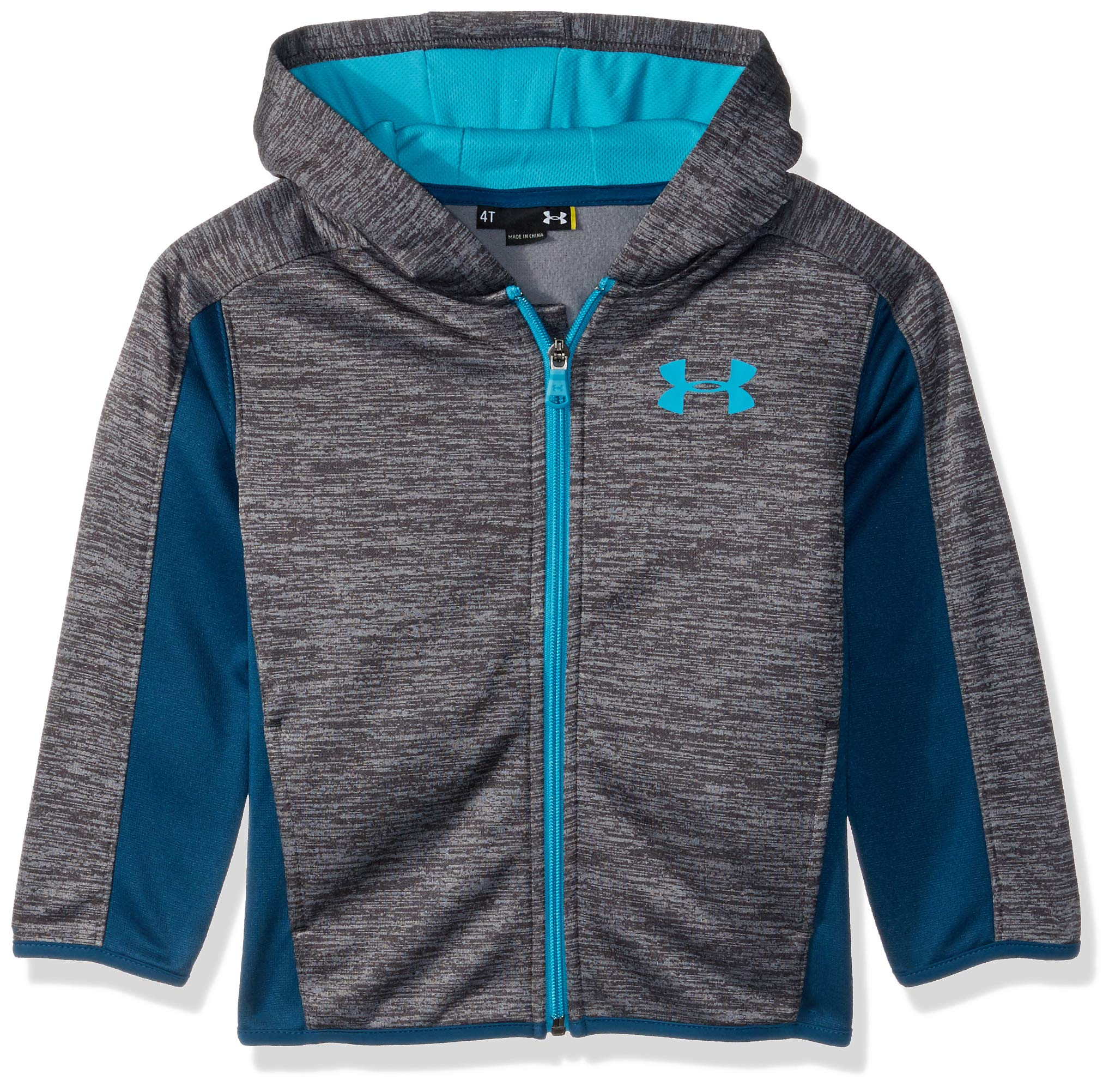 Under Armour Boys' Little Zip Up Hoody, Charcoal Dash 4
