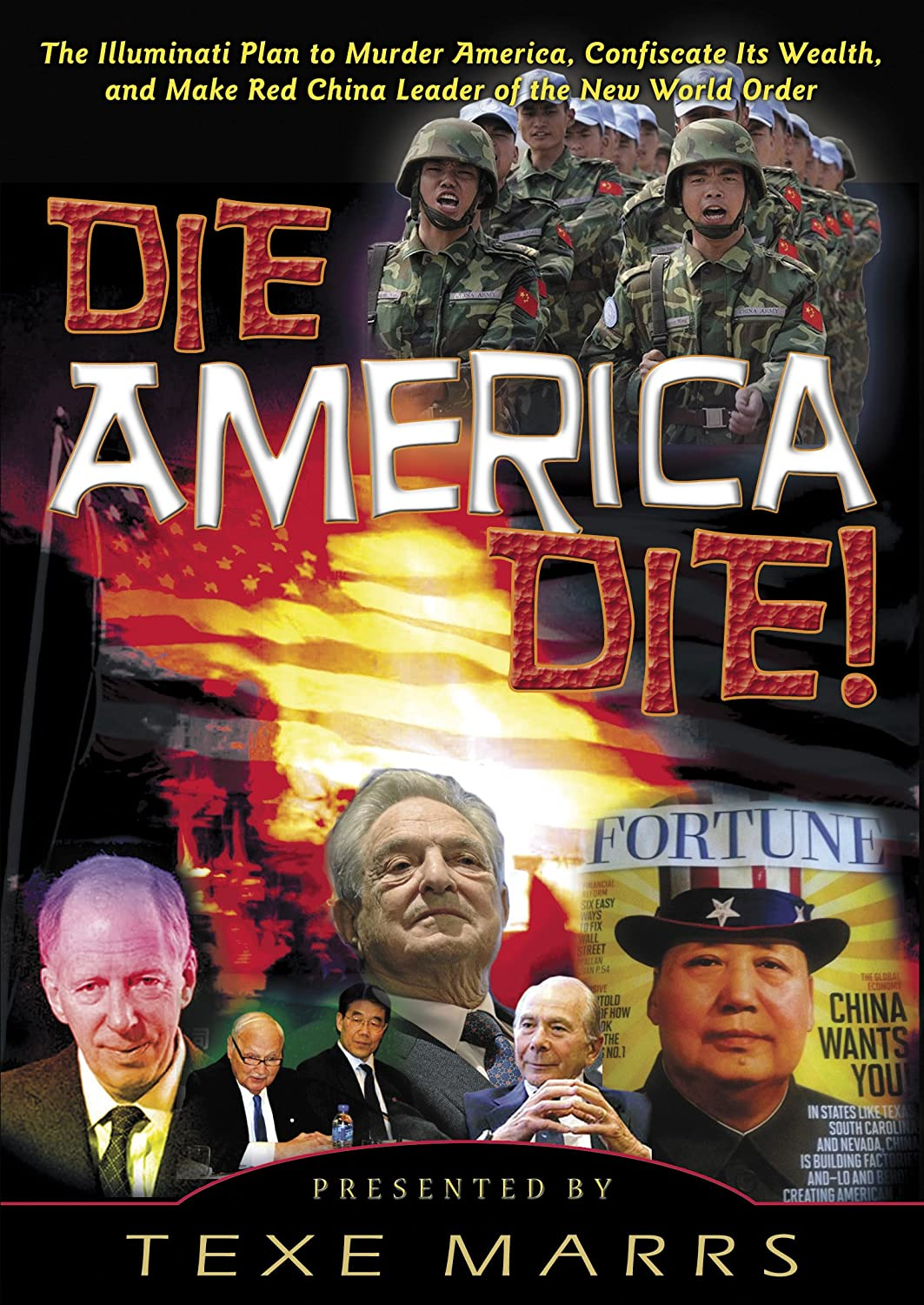 Amazon die america die the illuminati plan to murder the illuminati plan to murder america confiscate its wealth and make red china leader of the new world order texe marrs movies tv buycottarizona