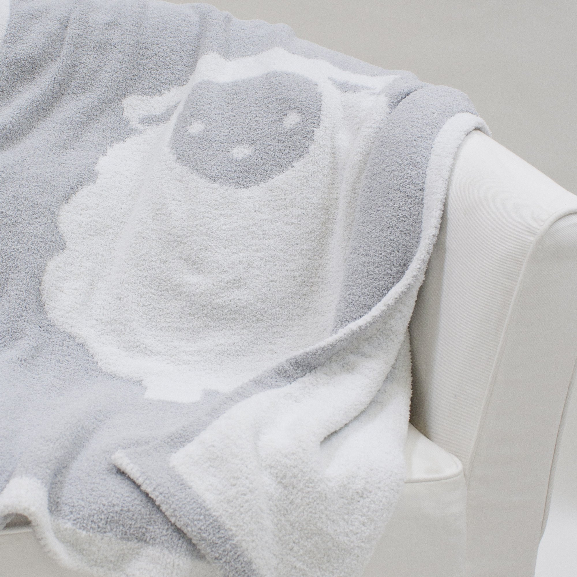 Lambs & Ivy Goodnight Sheep Soft and Cozy Reversible Chenille Baby Blanket