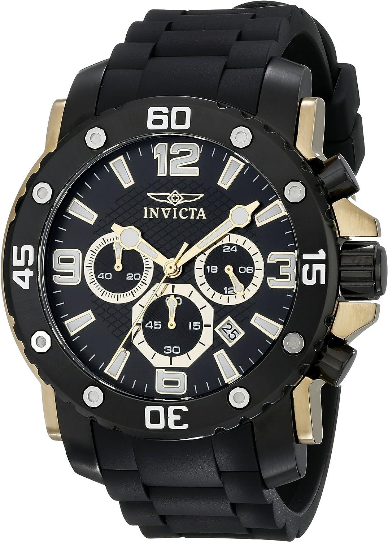 Invicta Men s 18166 Pro Diver Analog Display Japanese Quartz Black Watch