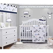 OptimaBaby Woodland Forest Deer 6 Piece Baby Nursery Crib Bedding Set