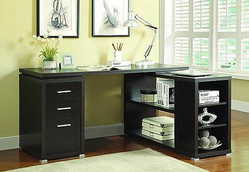 Coaster Yvette L-Shape Office Desk Cappuccino Cappuccino/Casual
