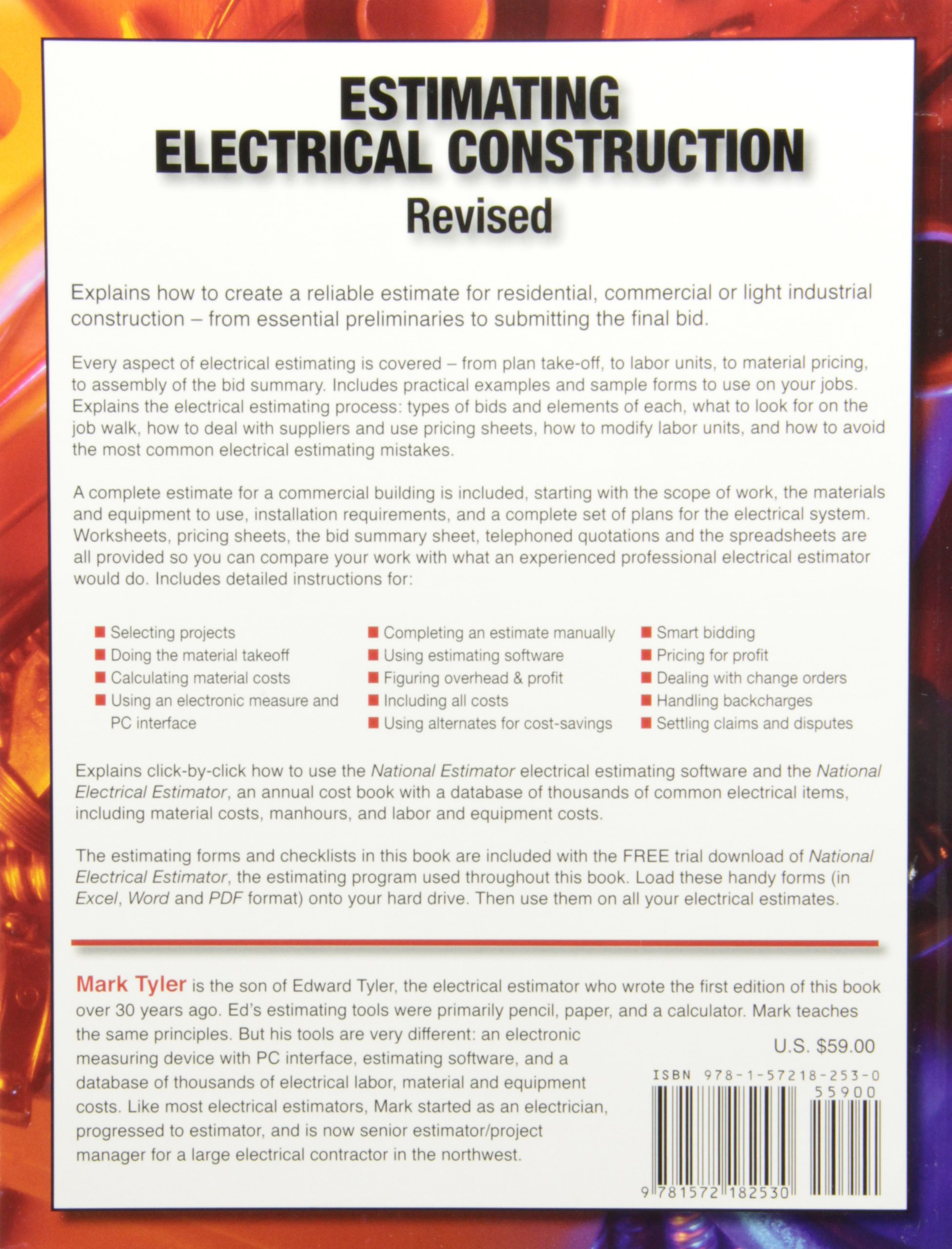 electrical estimate nilza net estimating electrical construction revised mark tyler