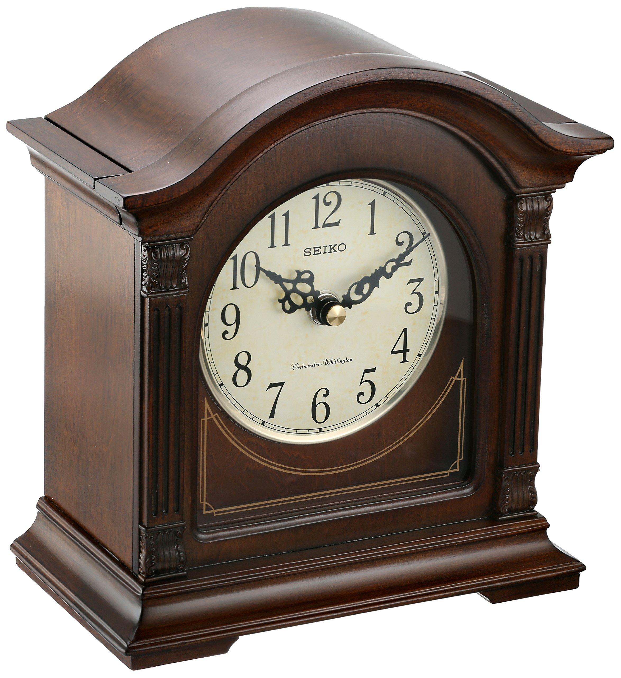 Seiko QXJ029BLH Japanese Quartz Shelf Clock by SEIKO