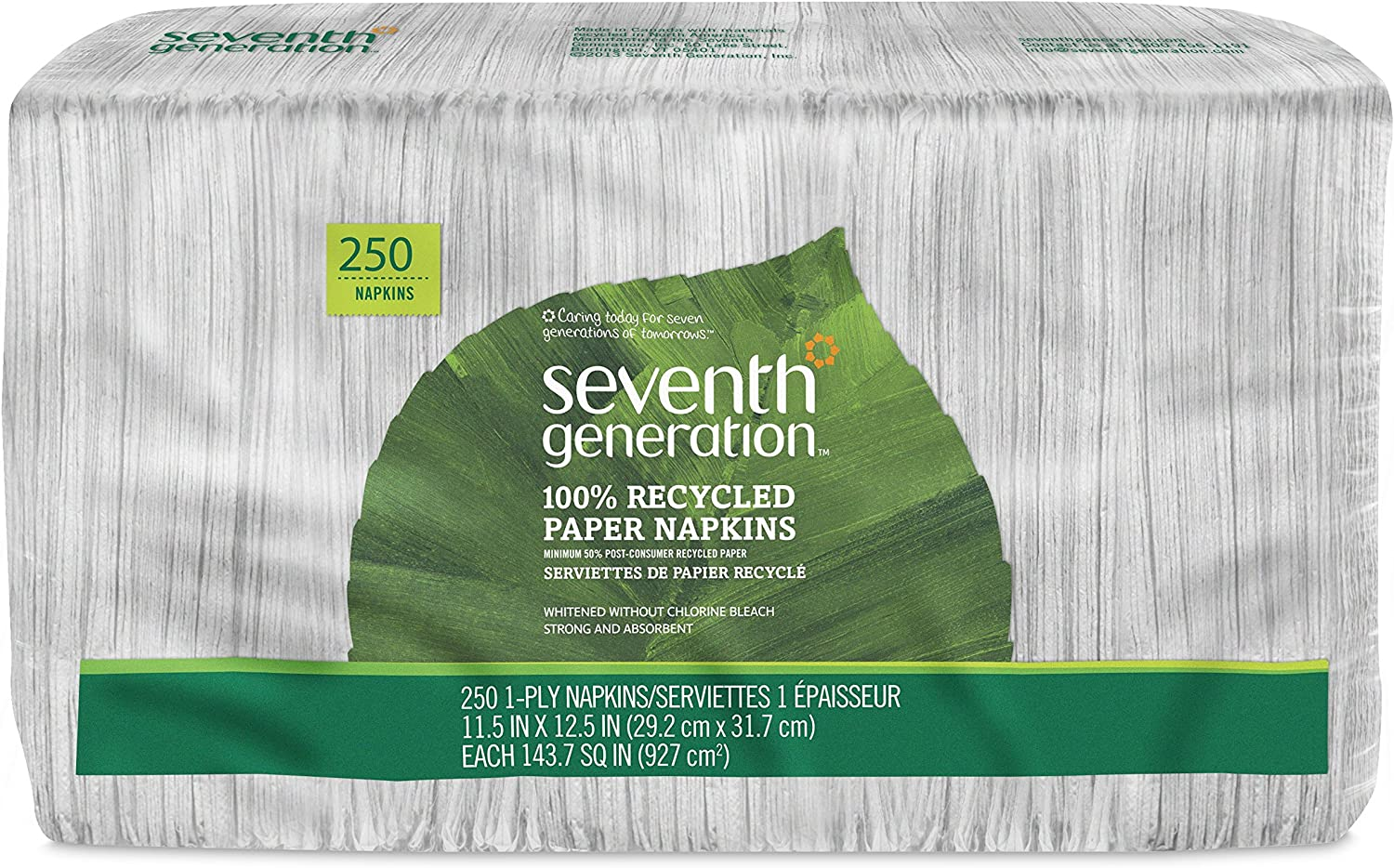 Seventh Generation, White Lunch Napkin 1-ply 250 count