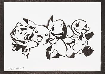 Pokemon Poster Handmade Graffiti Street Art - Artwork
