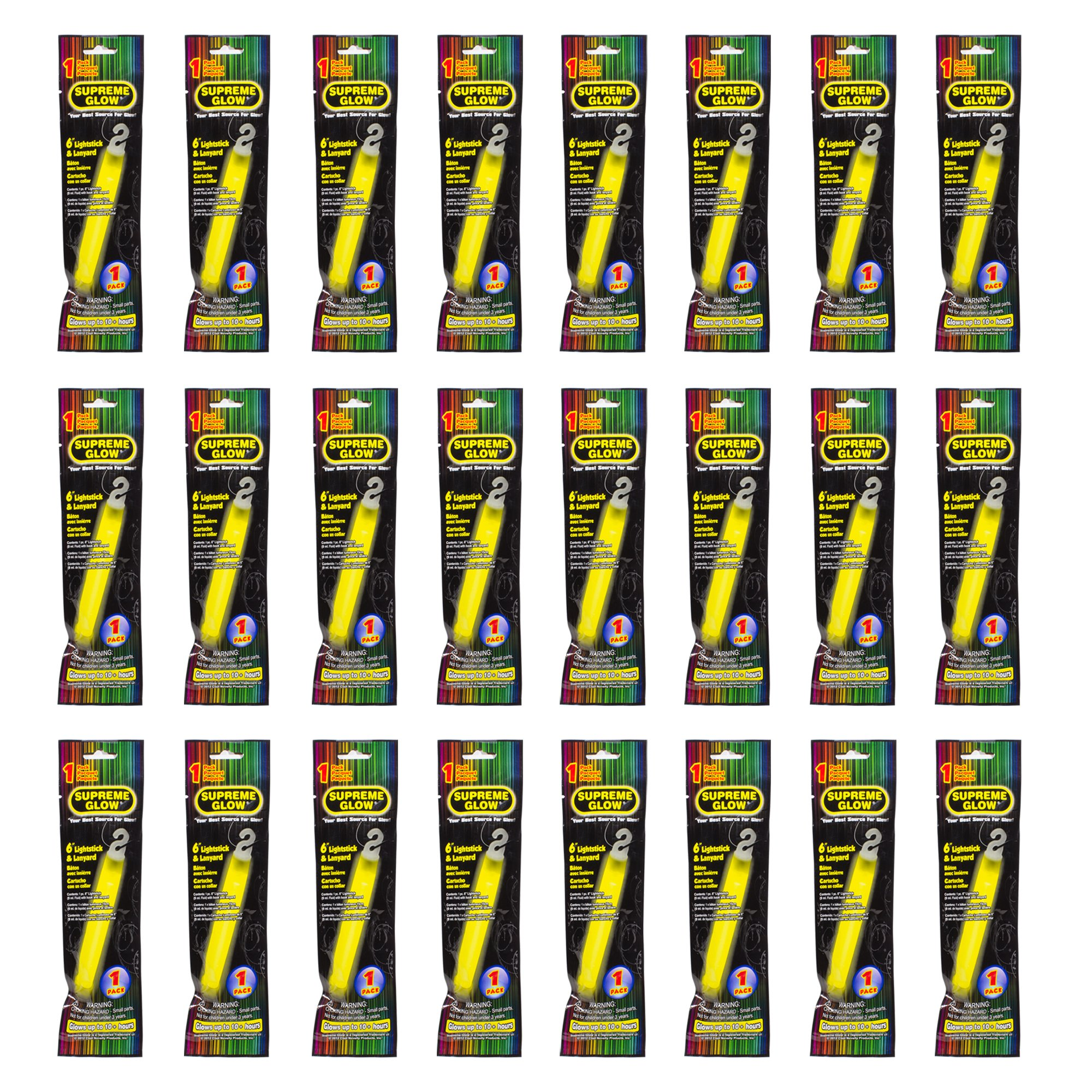 Industrial Grade 12 hour Illumination Emergency Safety Chemical Light Glow Sticks (24 Pack)