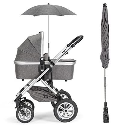 For-your-Little-One Universal Sonnenschirm f/ür Kinderwagen Schwarz passend f/ür Bugaboo