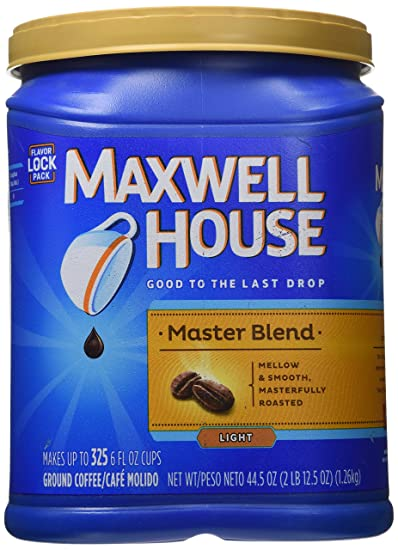Delightful Maxwell House Master Blend Ground Coffee, 44.5 Ounces