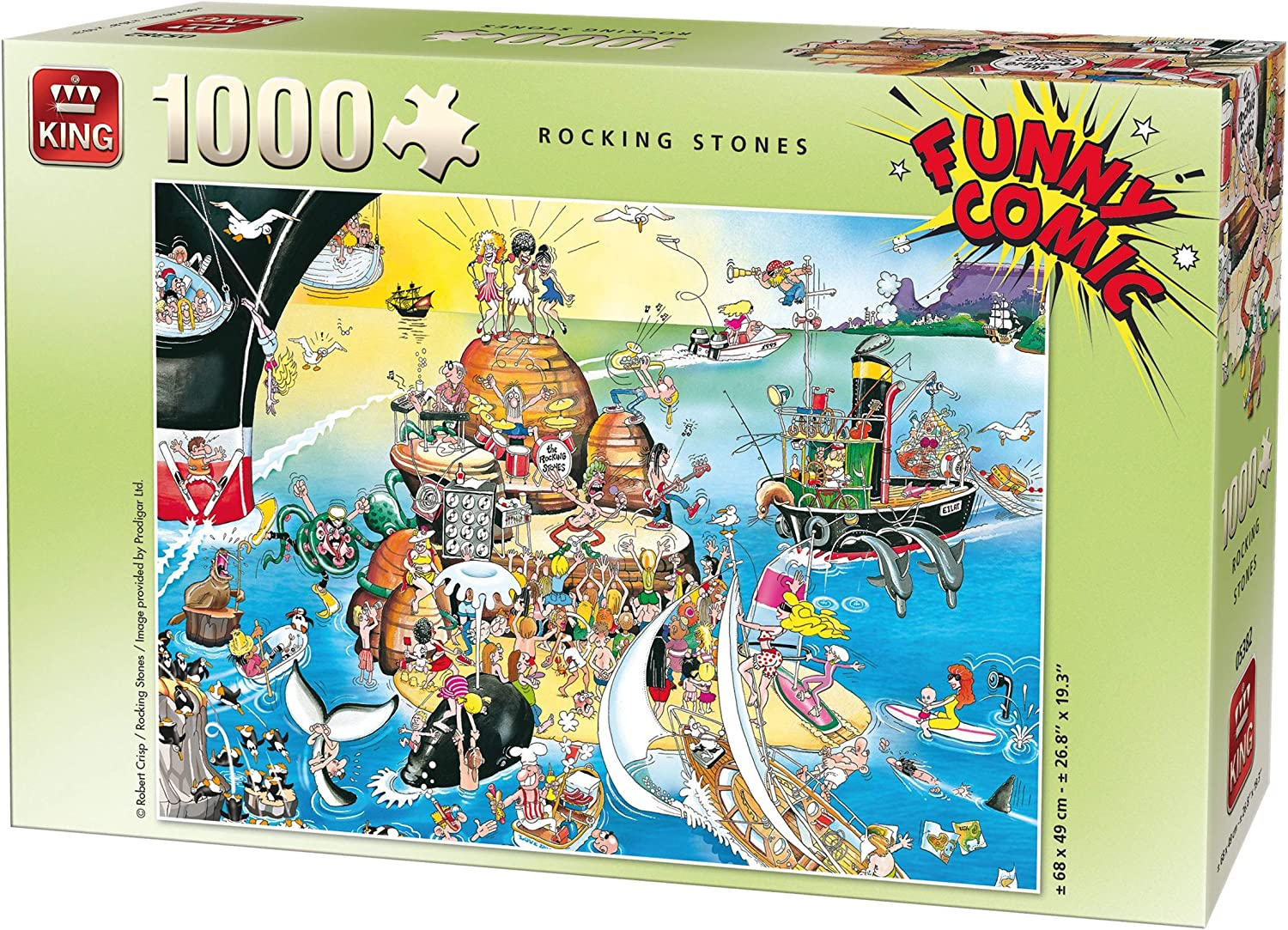 King Funny Comic Rocking Stones 1000 pcs Puzzle - Rompecabezas (Puzzle Rompecabezas, Comics, Adultos, Prodigar, Hombre/Mujer, 8 año(s))