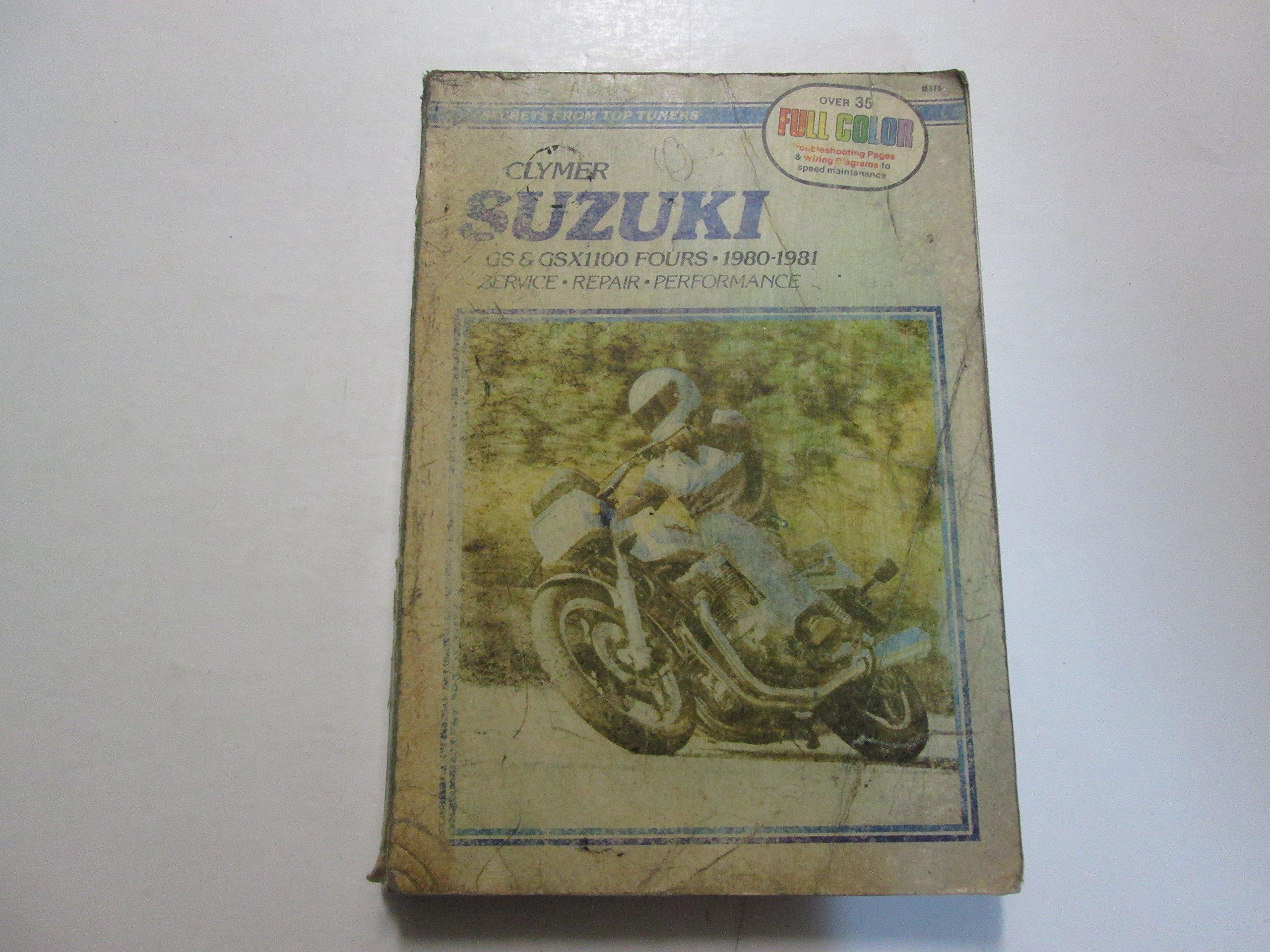 1980 1981 clymer suzuki gs gsx1100 fours service repair performance manual  worn paperback – 1980