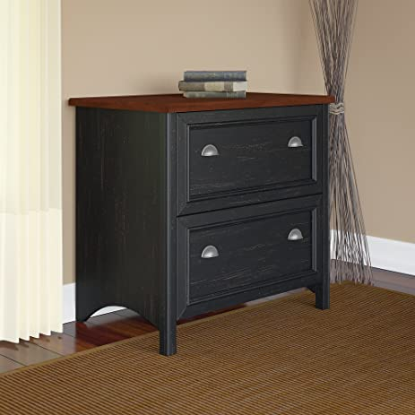 Amazon.com: Stanford Lateral File Cabinet in Antique Black ...
