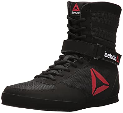 dd059b906e6 Reebok Men's Boxing Boot-Buck Sneaker, Delta Black/White, ...