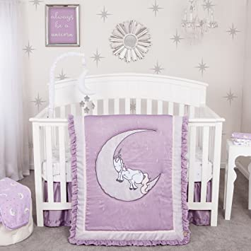 ac56324428 Amazon.com : Trend Lab Unicorn Dreams 3 Piece Crib Bedding Set : Baby