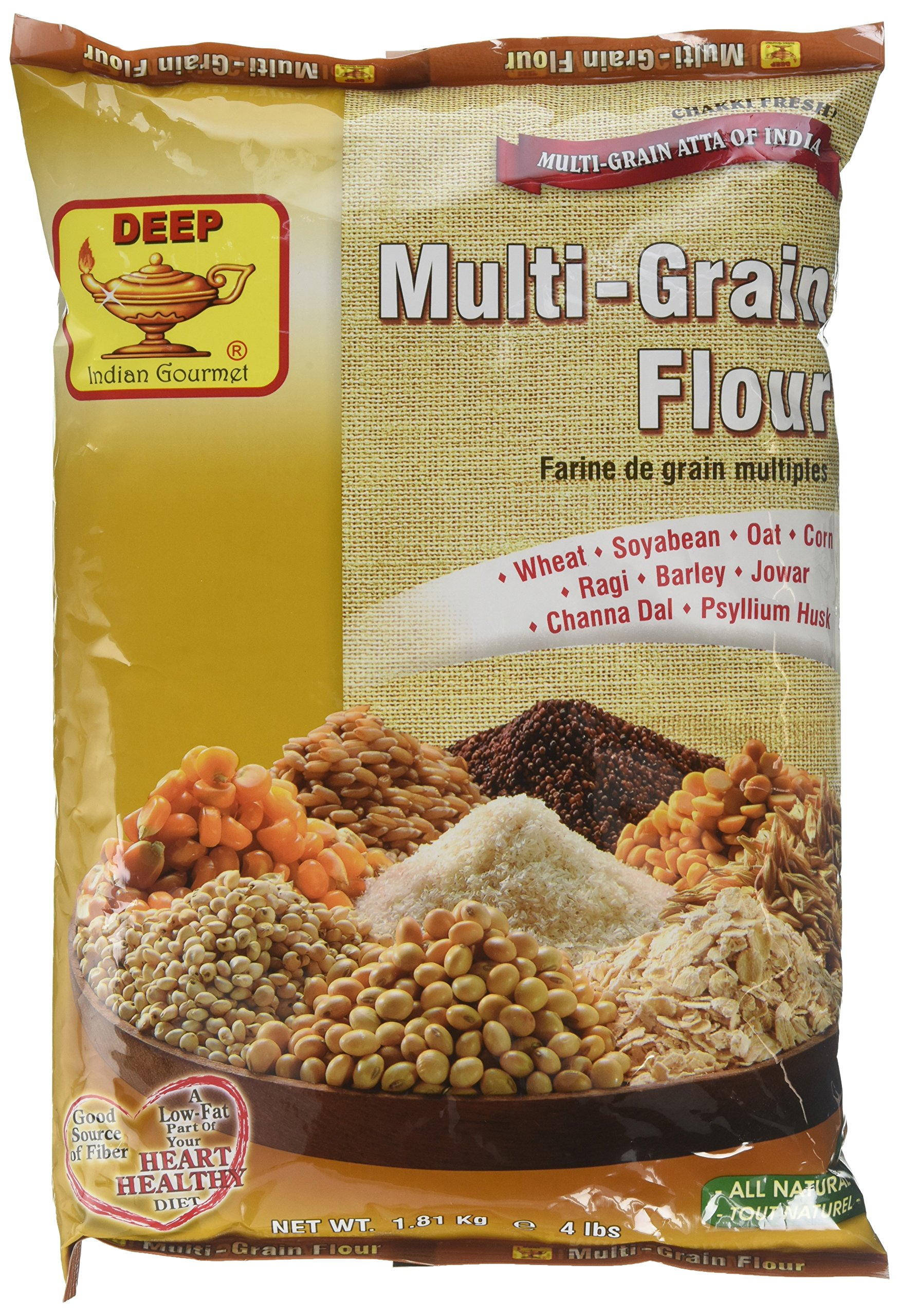 Deep Multi Grain Flour - All Natural / 4lb., Indian Groceries