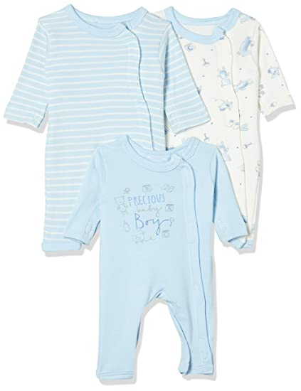 7fdeaf15c6b3 Mothercare Baby Boys  Regular Fit Romper Suit (Pack of 3)  Amazon.in ...