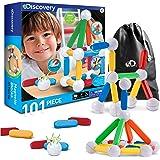Discovery Kids 101-Piece Best Magnetic Tile Building Blocks Kit
