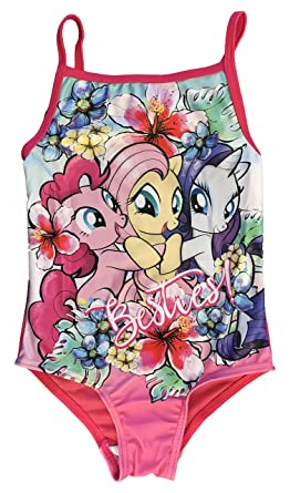 640204ae03fef Girls My Little Pony MLP Swimming Costume / Bikini (4/5 Years, Floral -  New): Amazon.co.uk: Clothing