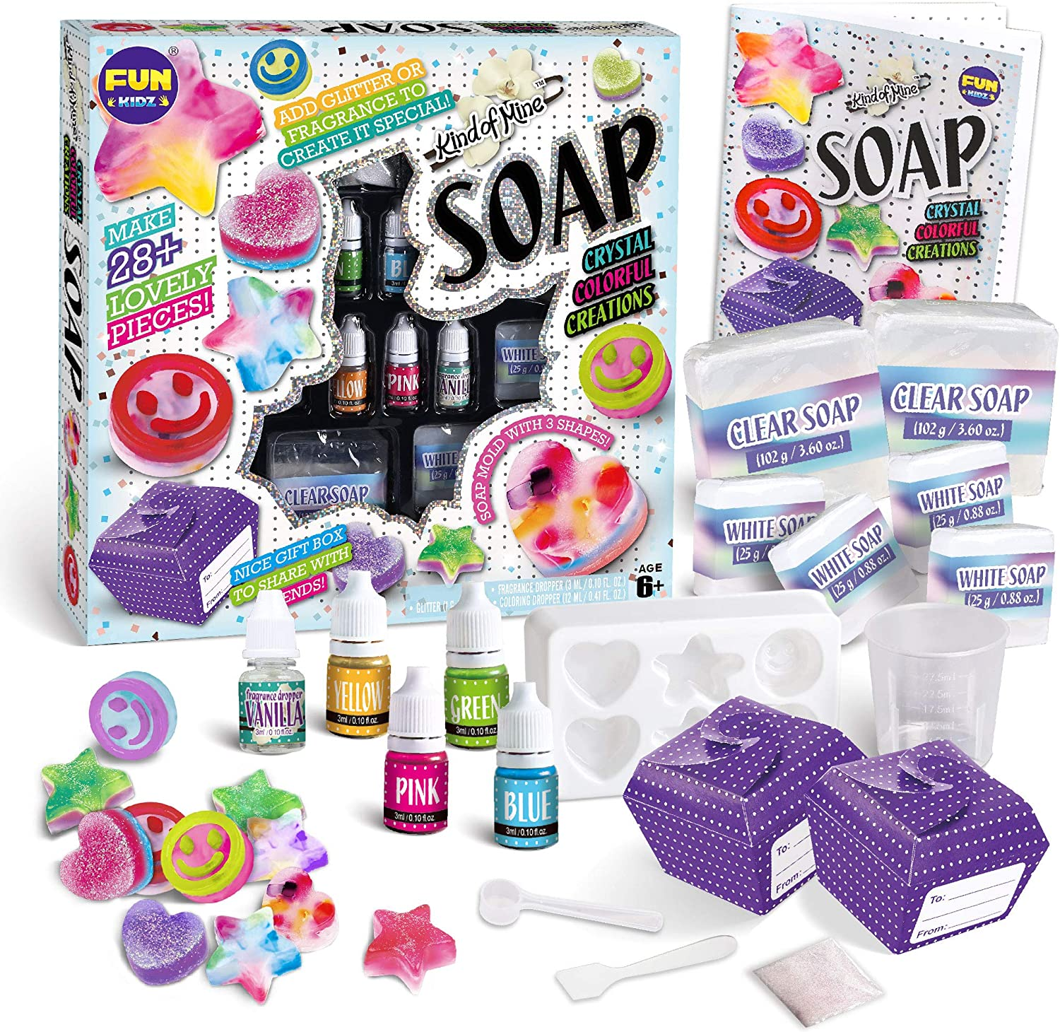 Make Your Own Soap Childrens Kids Kit Scent Glitter Creative Learning 3 x SCENTS