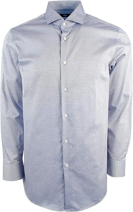 d21dc39d4 Amazon.com: Hugo Boss Men's Sharp-Fit Cotton Button Down Shirt-N ...