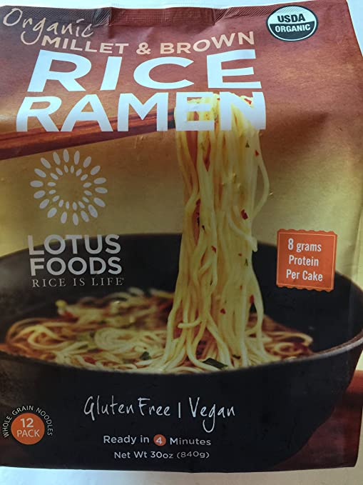 Lotus Foods Organic Brown Rice Ramen (12 Packper Bag), 30 oz