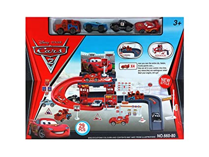Buy Mikadelo Disney Pixar Cars 2 Toy Racing Track Parking Garage