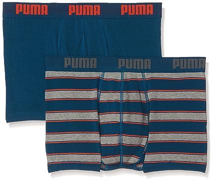Puma Rugby Stripe YD 2P Ropa Interior, Hombre, Azul y Naranja, Small