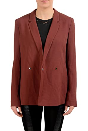 ff834e65 Image Unavailable. Image not available for. Color: Hugo Boss Jaftina Wool  Burgundy Double Breasted Women's Blazer US S IT 40