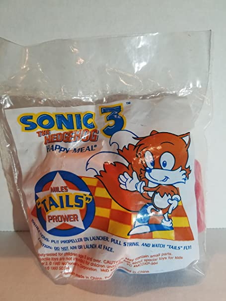 Sega ** Complete Set of 4 ** McDonalds 1994 Sonic 3 The Hedgehog MIP