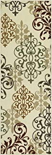 product image for Maples Rugs Runner Rug - Eleanor 2 x 6 Non Skid Hallway Entry Rugs Runners [Made in USA] for Kitchen and Entryway, Multi