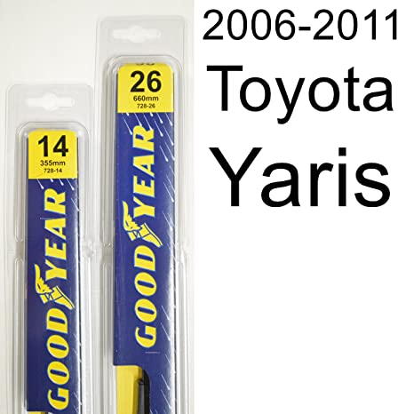 Amazon.com: Toyota Yaris (2006-2011) Wiper Blade Kit - Set ...