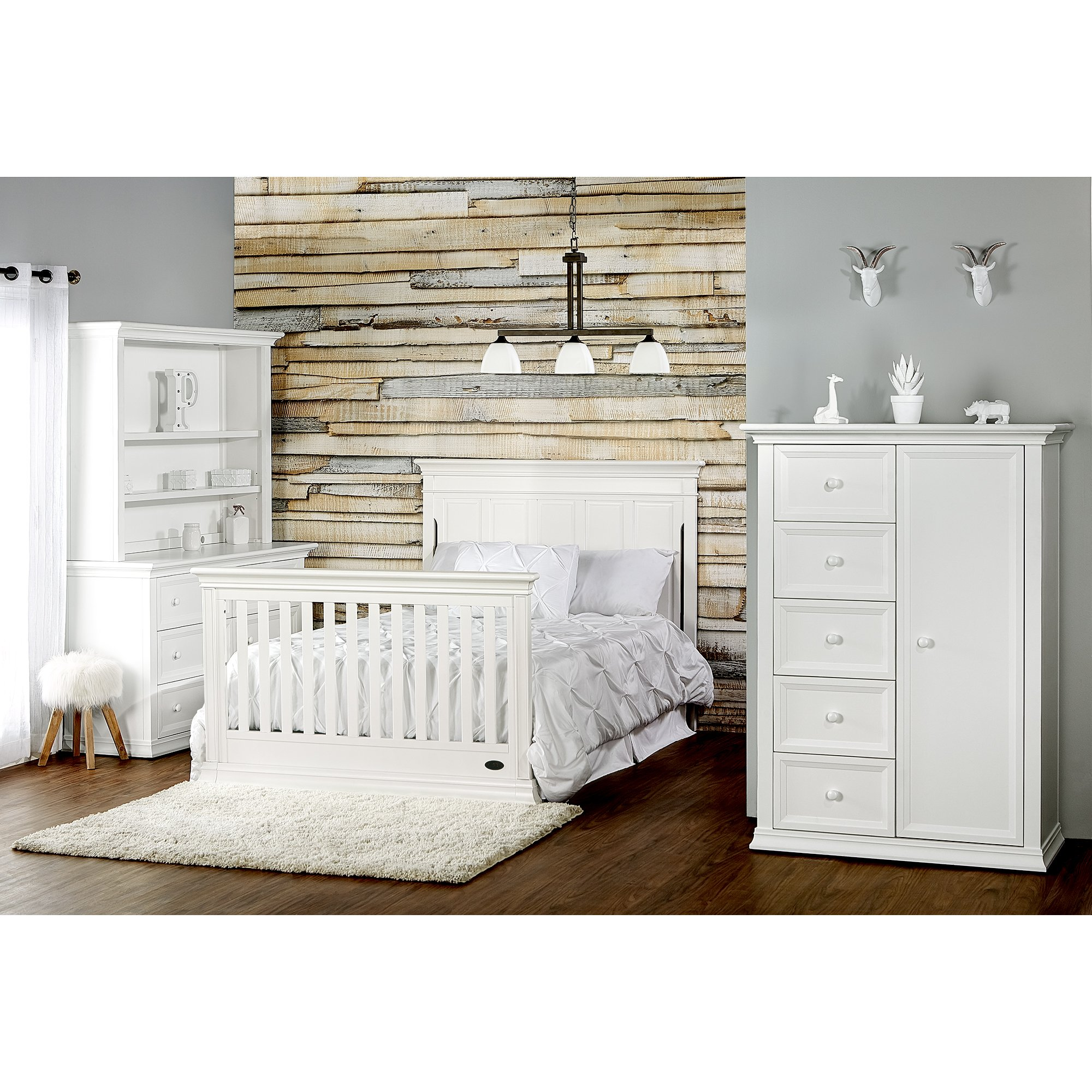 Evolur Napoli Bed Rail Distress White