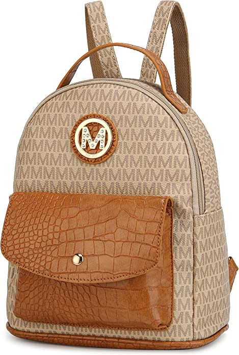 MKF Backpack Purse for Women & Teen Girls – PU Leather Top-Handle Ladies Fashion Travel Pocketbook Bag – Daypack