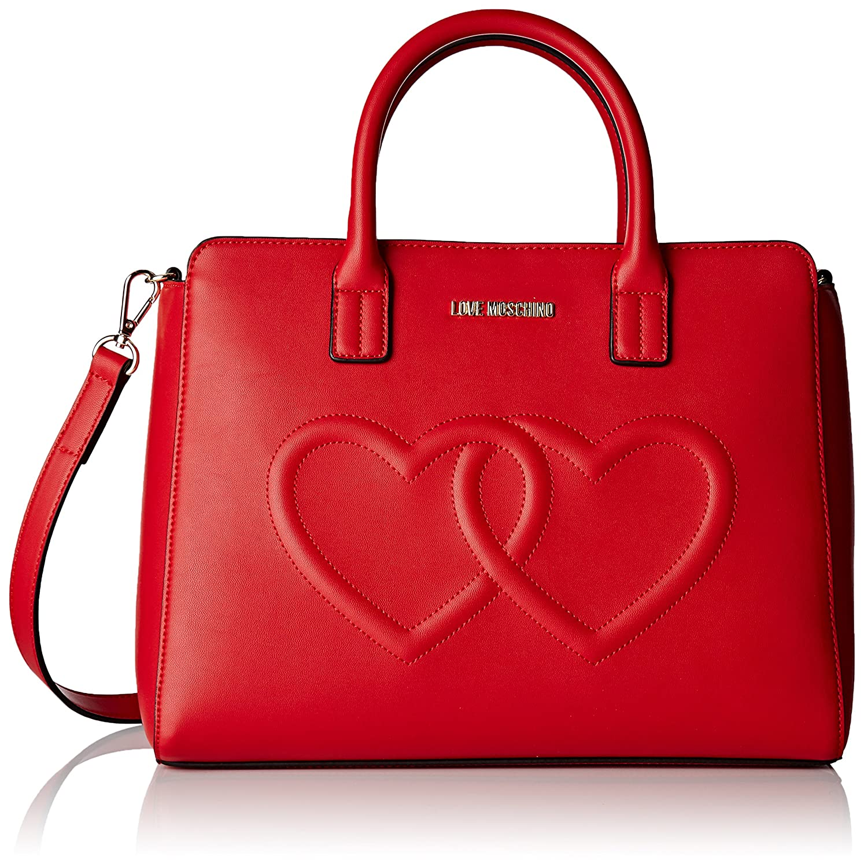 f9750e57344 Amazon.com: Moschino Women's Love Moschino Shoulder Bag, Red, One Size:  Shoes