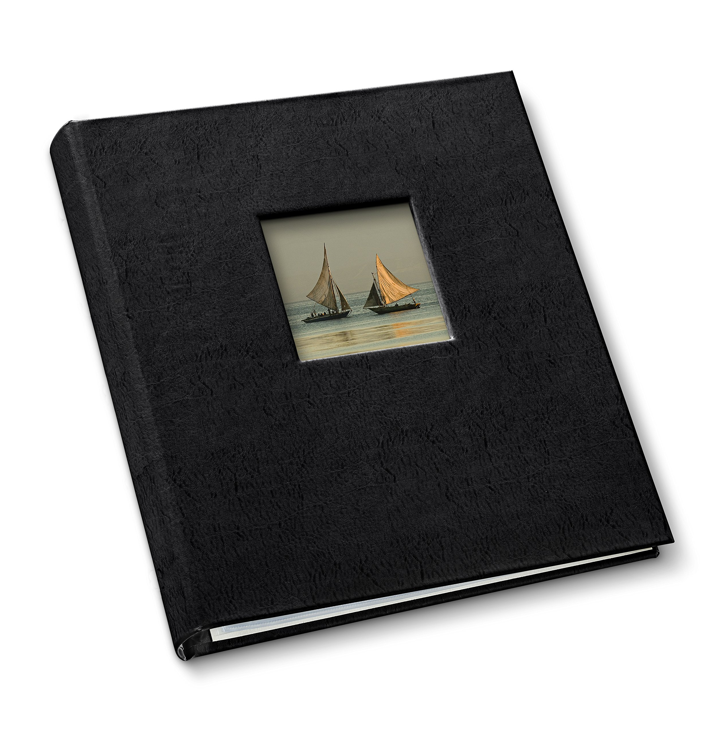 Gallery Leather Presentation Binder 1.25'' With Window Freeport Black